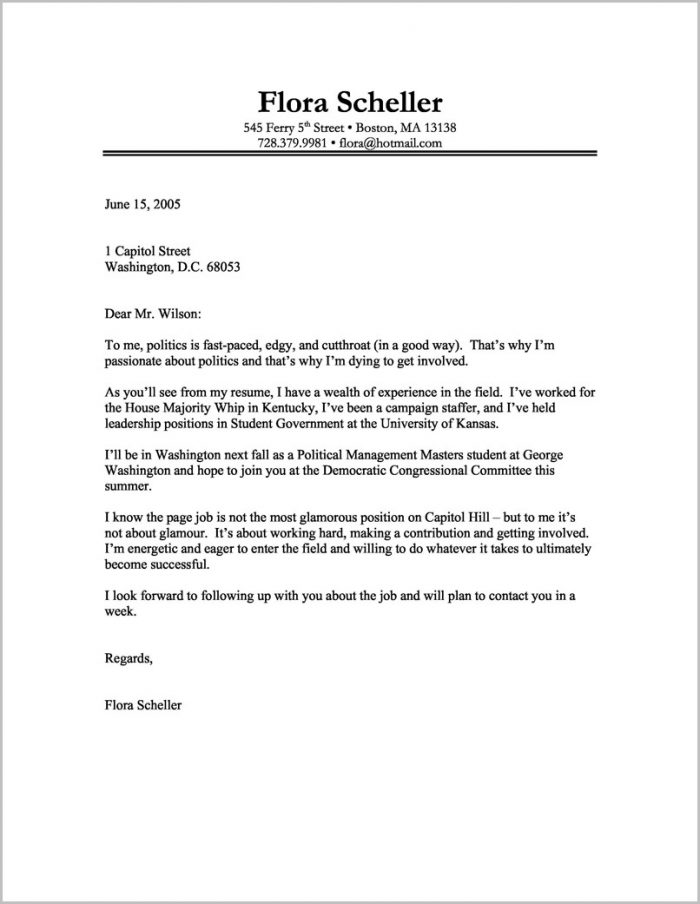 Best Cover Letter For Resume Samples