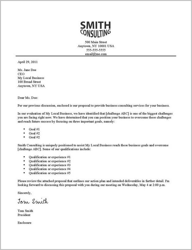 Cover Letter Examples Enclosure Resume