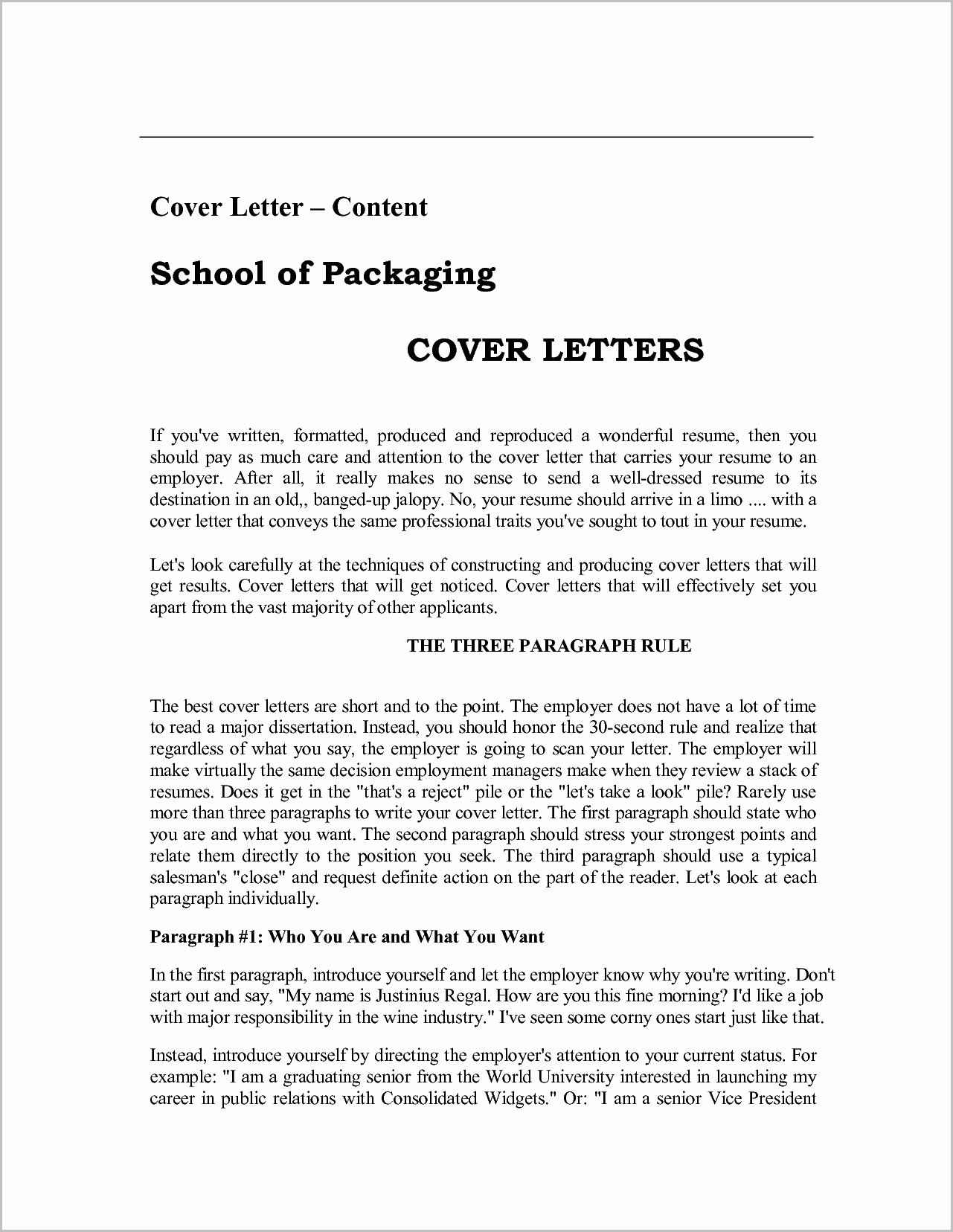 Cover Letter Examples For Job Pdf