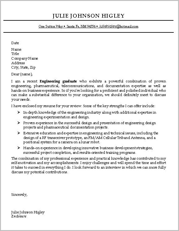 Cover Letter Examples For Resume Entry Level