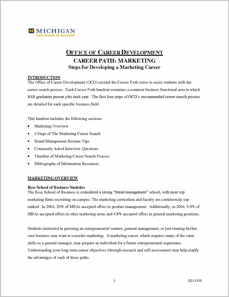 Cover Letter For Changing Career Paths Example