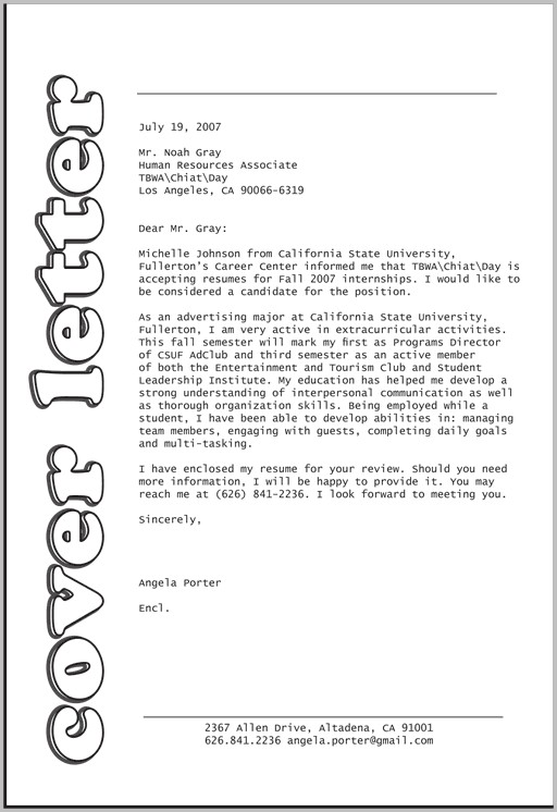 Cover Letter For Design Job Examples