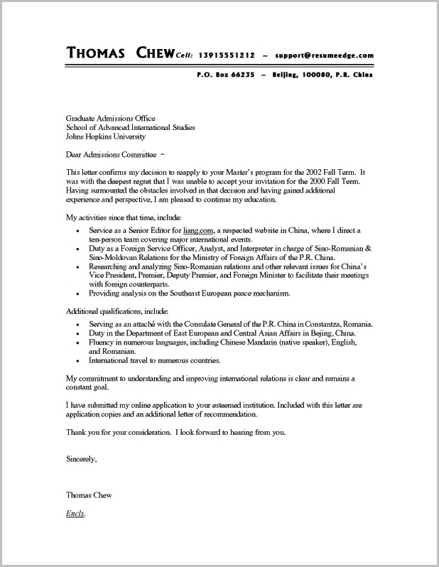 Cover Letters For A Resume Examples