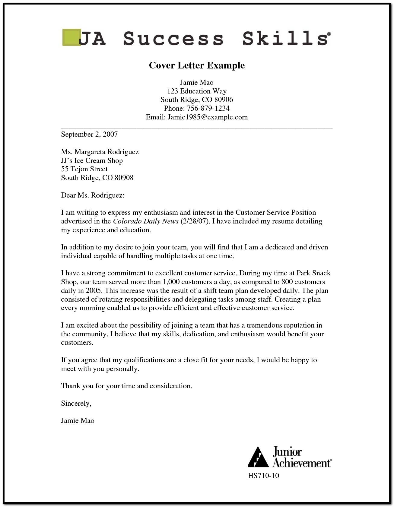 Examples Of Cover Letters For Resume Pdf