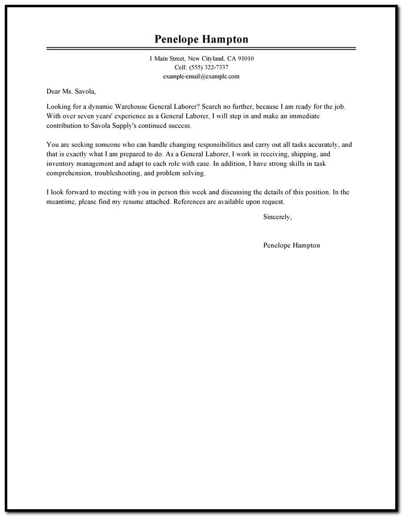 Financial Advisor Cover Letter No Experience