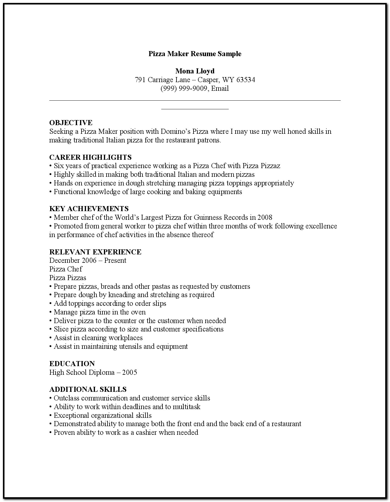 Free Online Resume And Cover Letter Builder