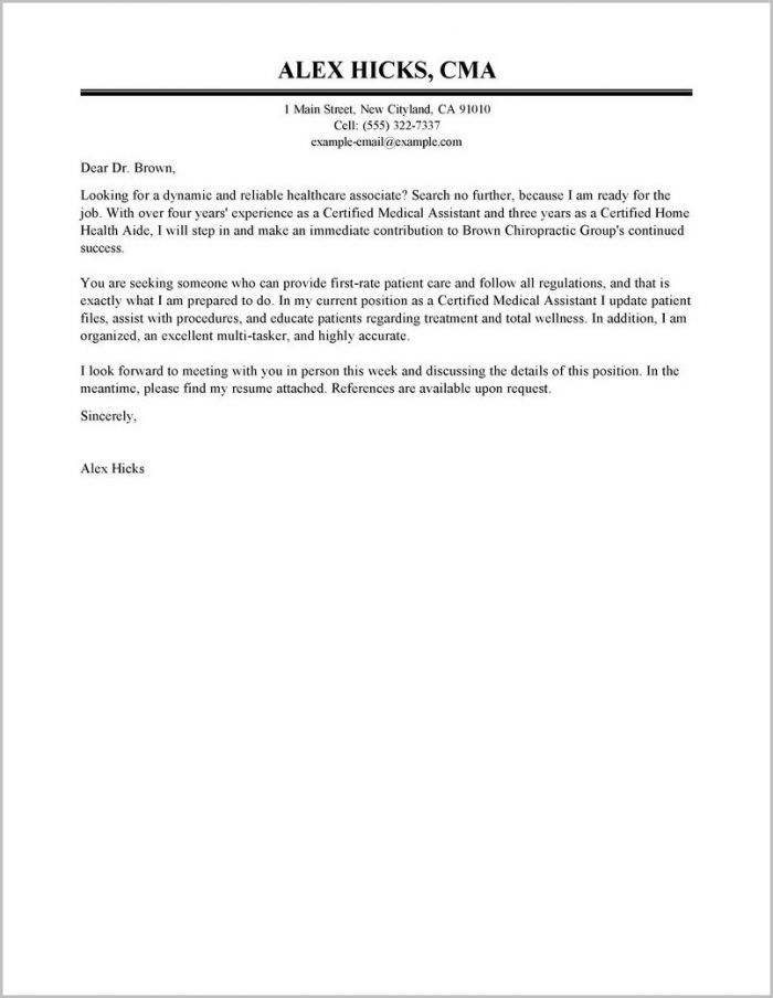 Professional Cover Letter For Resume Examples