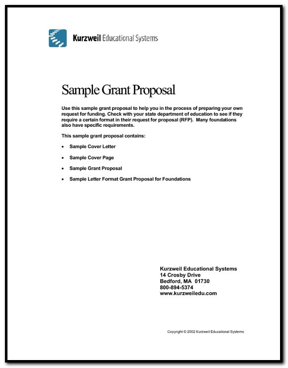 Sample Cover Letter For Non Profit Grant Proposal