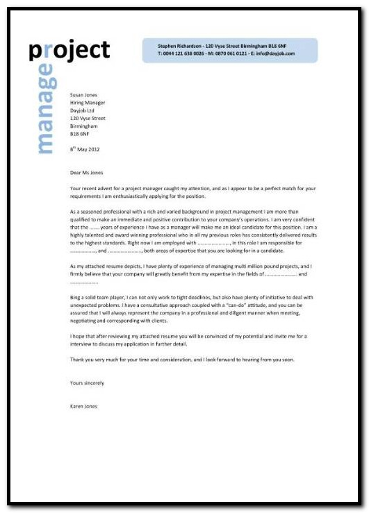 Sample Cover Letter For Resume Account Executive