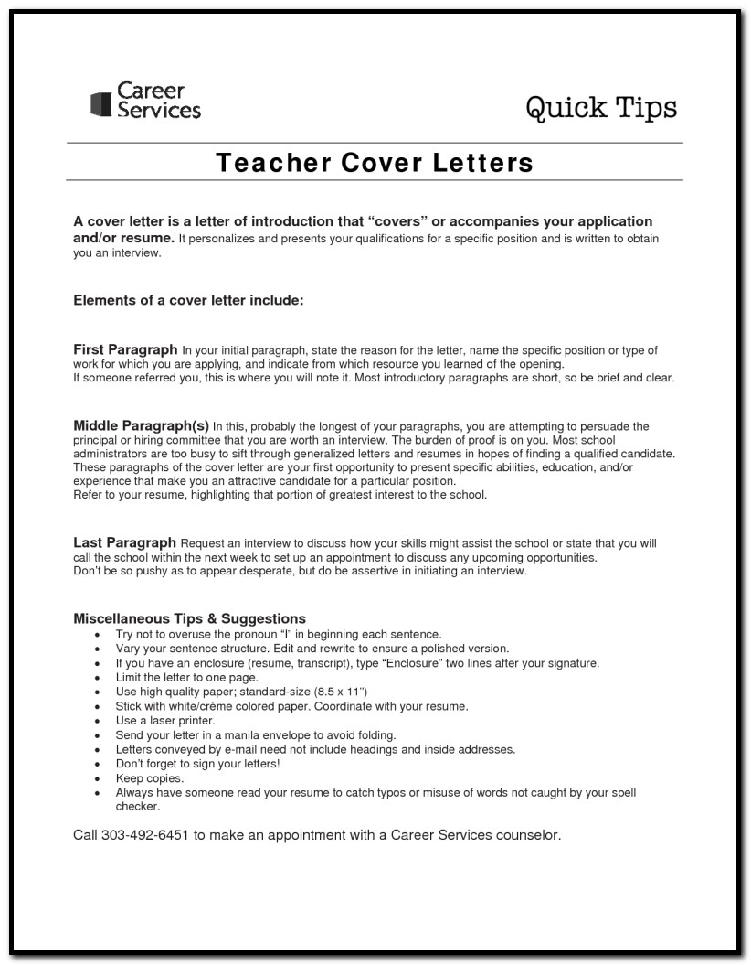 Sample Cover Letter For Teachers Aide With No Experience