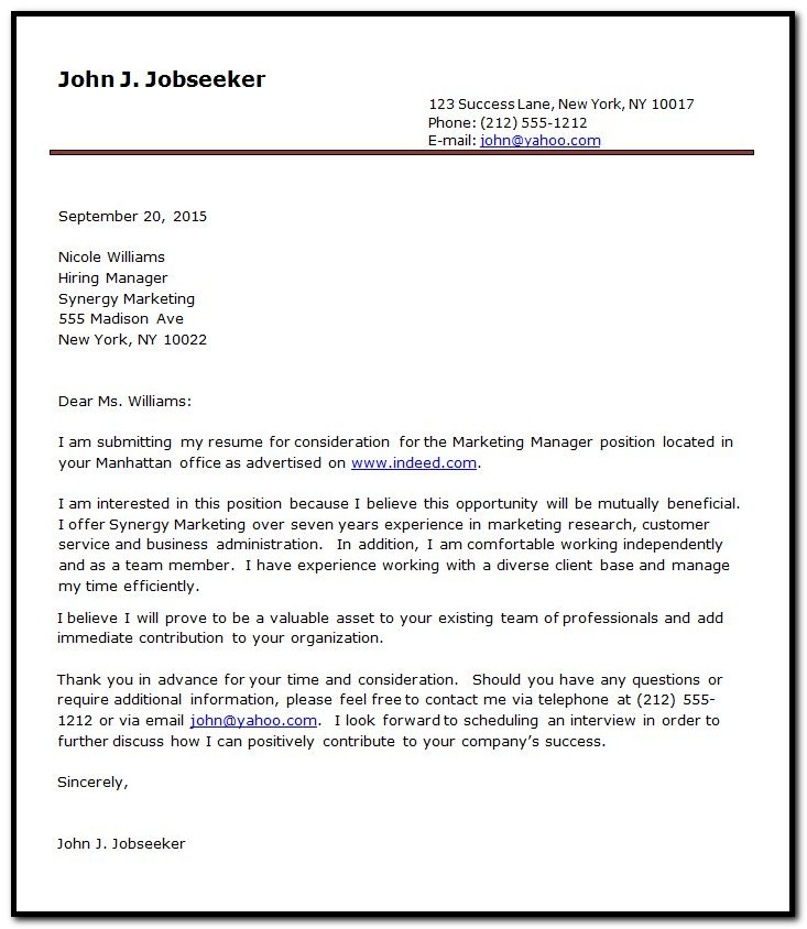 The Pain Free Cover Letter Builder