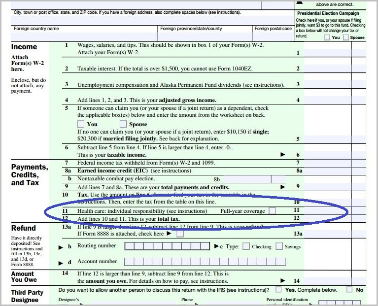 1040ez Tax Form For 2015
