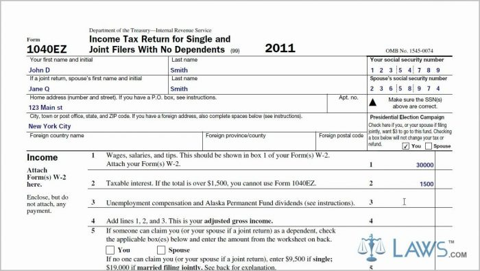 1040ez Tax Form Instructions