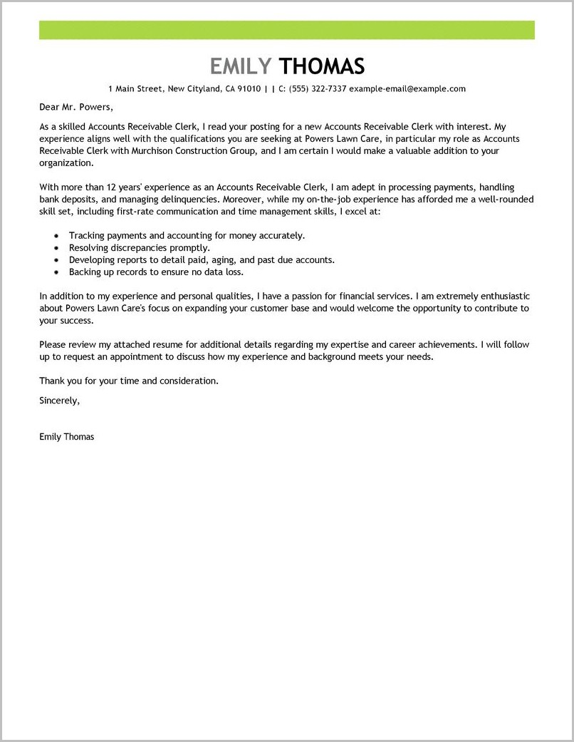 Accounts Payable Analyst Cover Letter Sample
