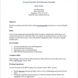 Accounts Payable Cover Letter Entry Level