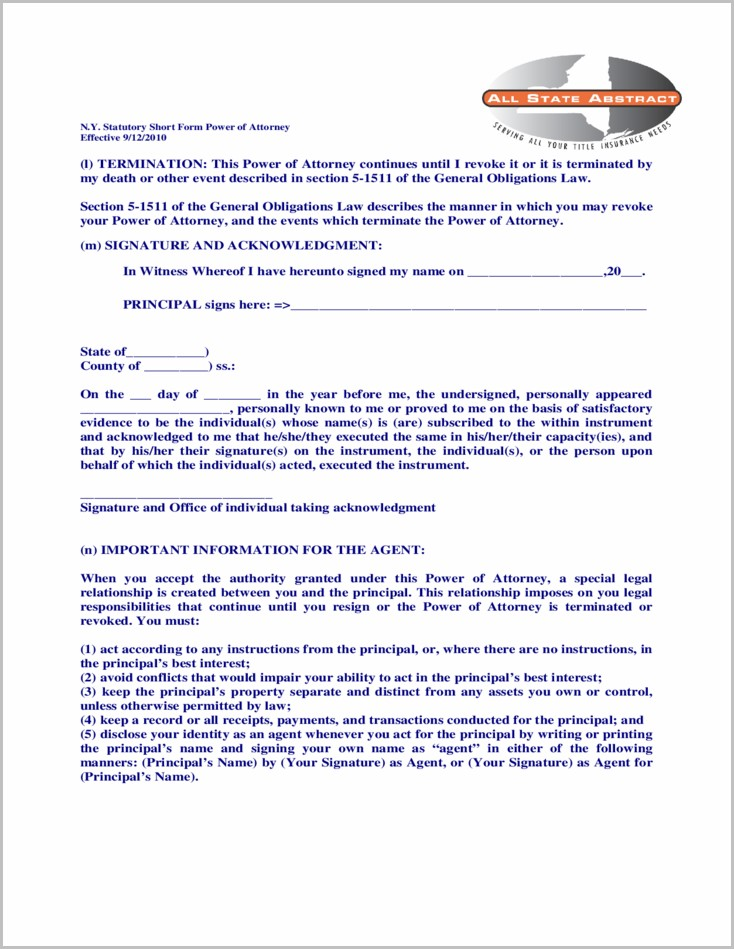 Blumberg Durable Power Of Attorney Form