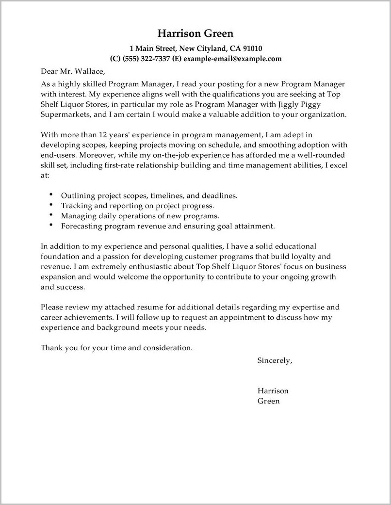 Cover Letter Build Up