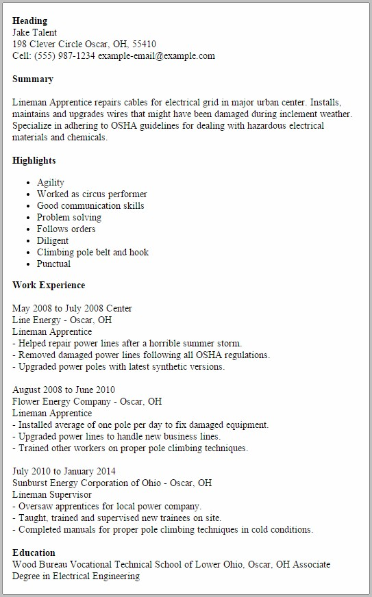 cover letter for electrician helper