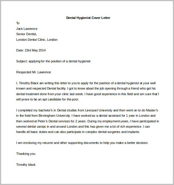 Cover Letter Sample Templates Free