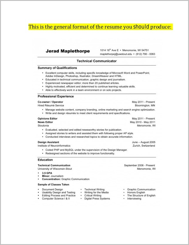 Cover Letters For Resumes 2014