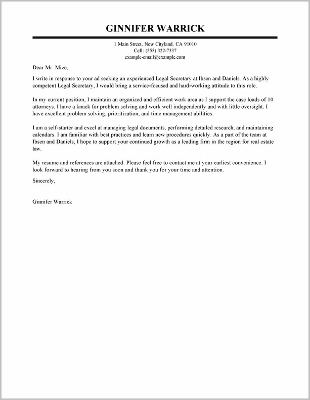 Example Of Cover Letter For Student Resume
