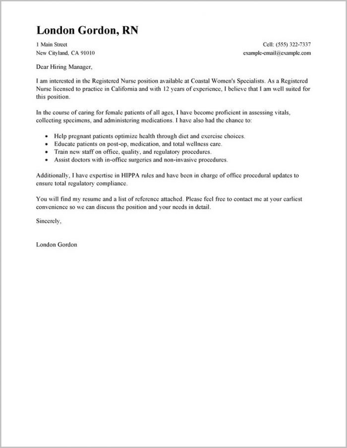 Examples Of Cover Letters To Resumes