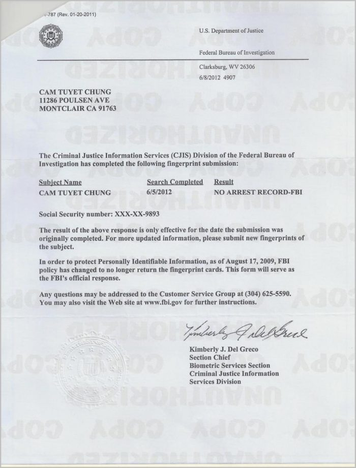 Fbi Background Check Apostille Cover Letter