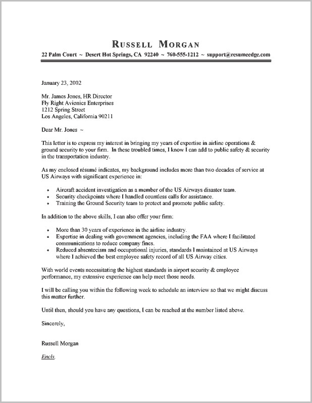 Free Application Cover Letter Sample