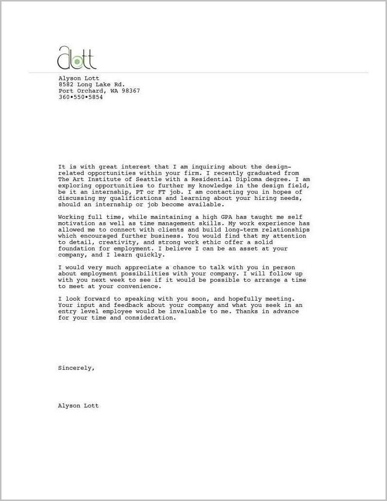 Free Cna Cover Letter Template