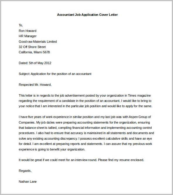Free Sample Cover Letter For It Job