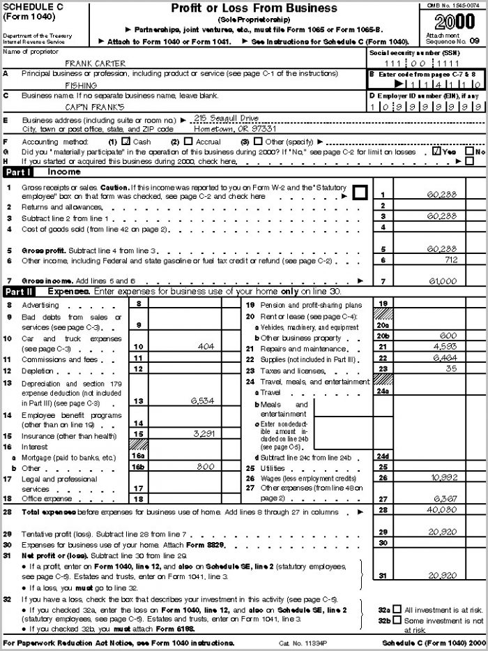 Irs Form 1040 D Instructions