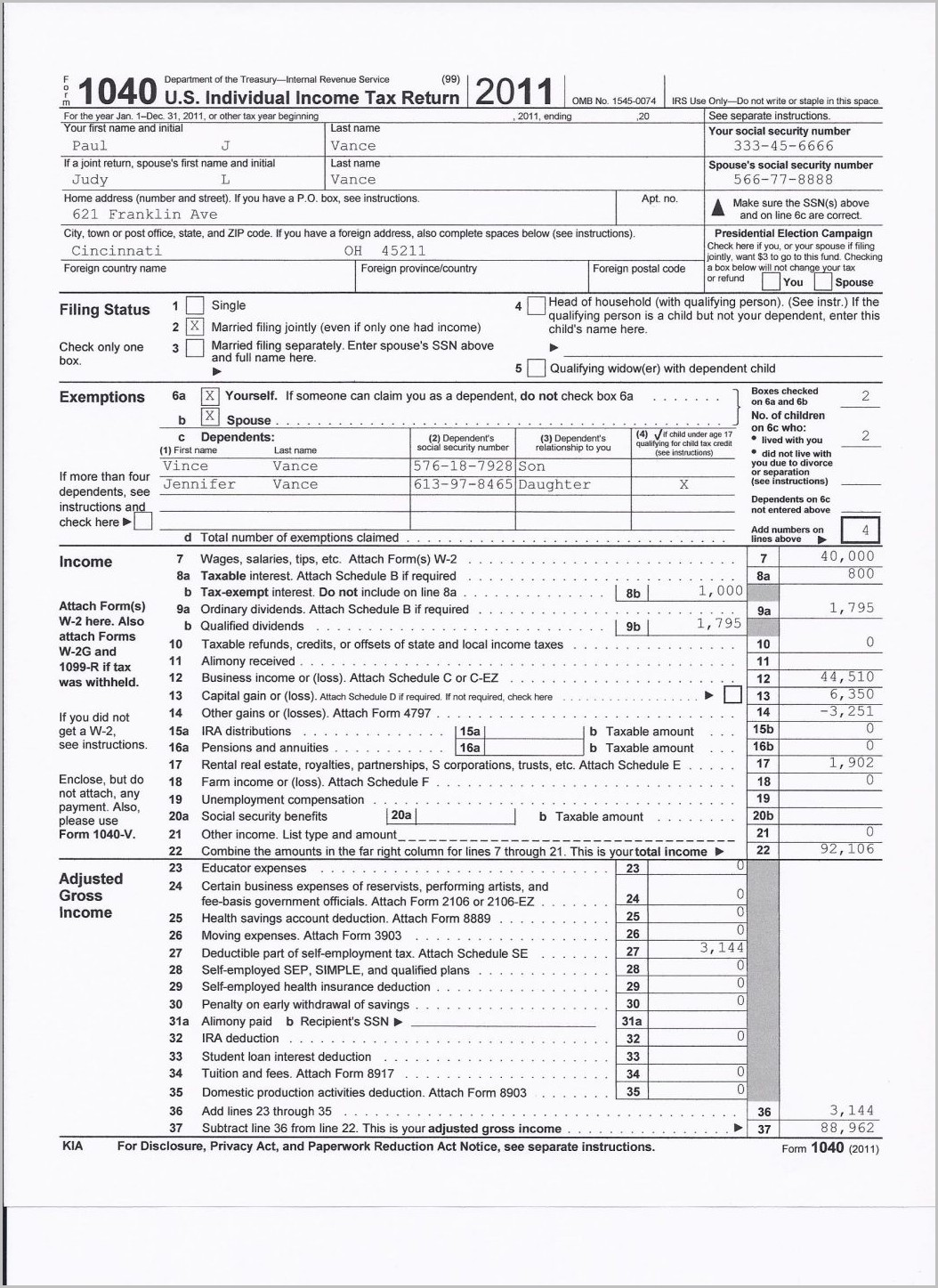 Irs Form 1040 Instructions 2010