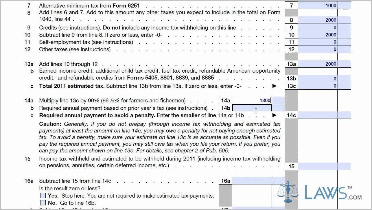 Irs Forms 1040 Es 2014