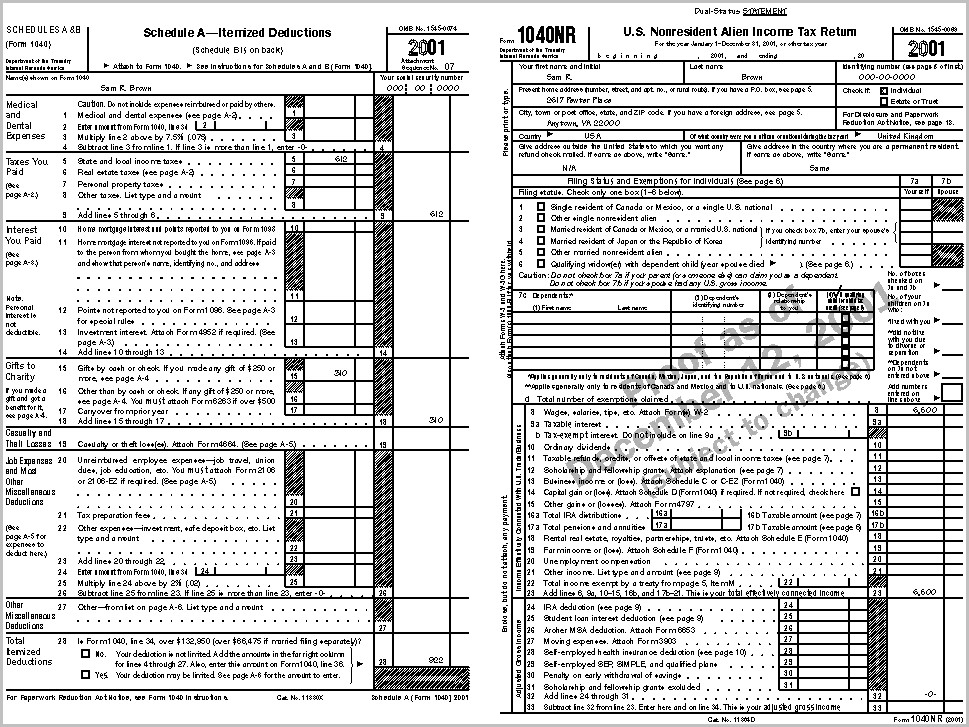Irs Forms 1040nr
