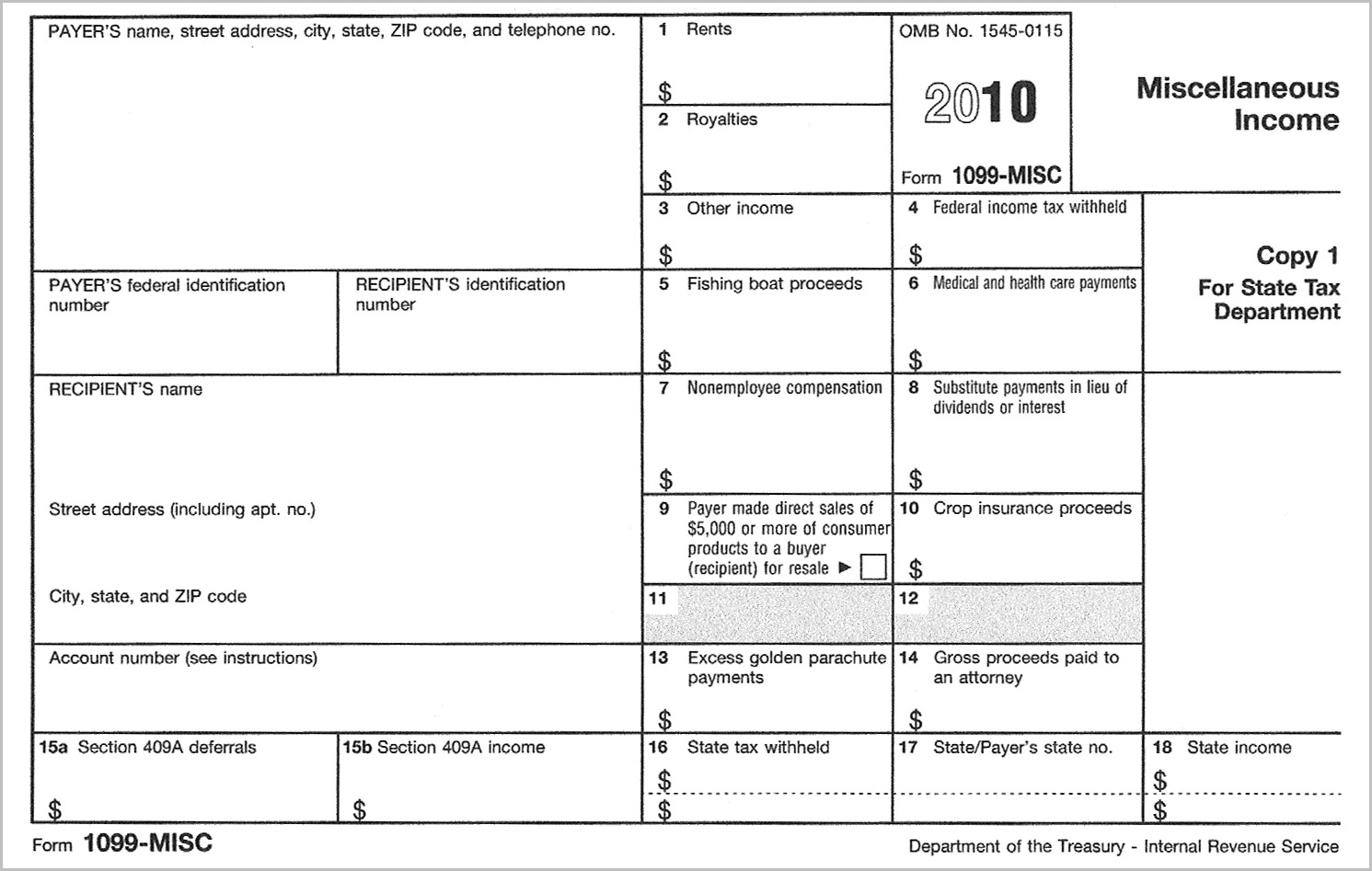 Irs Forms 1099