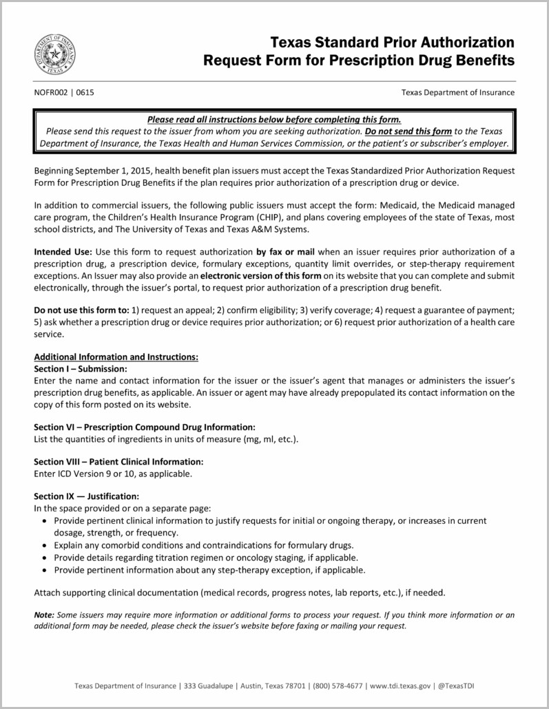 Medicaid Application Form Texas Pdf