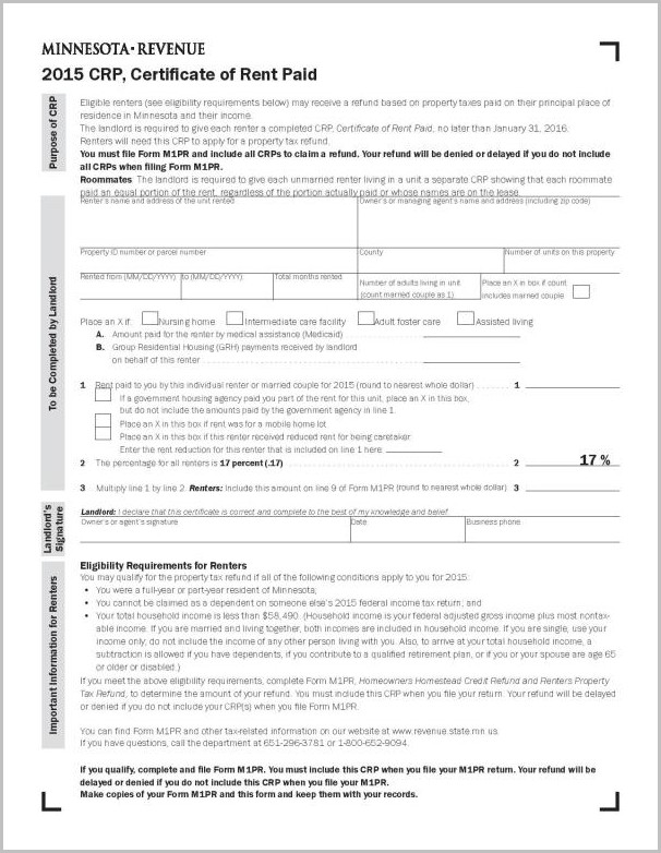 Mn 1040ez Tax Form