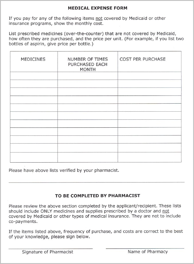 Nc Medicaid Application Form For Adults