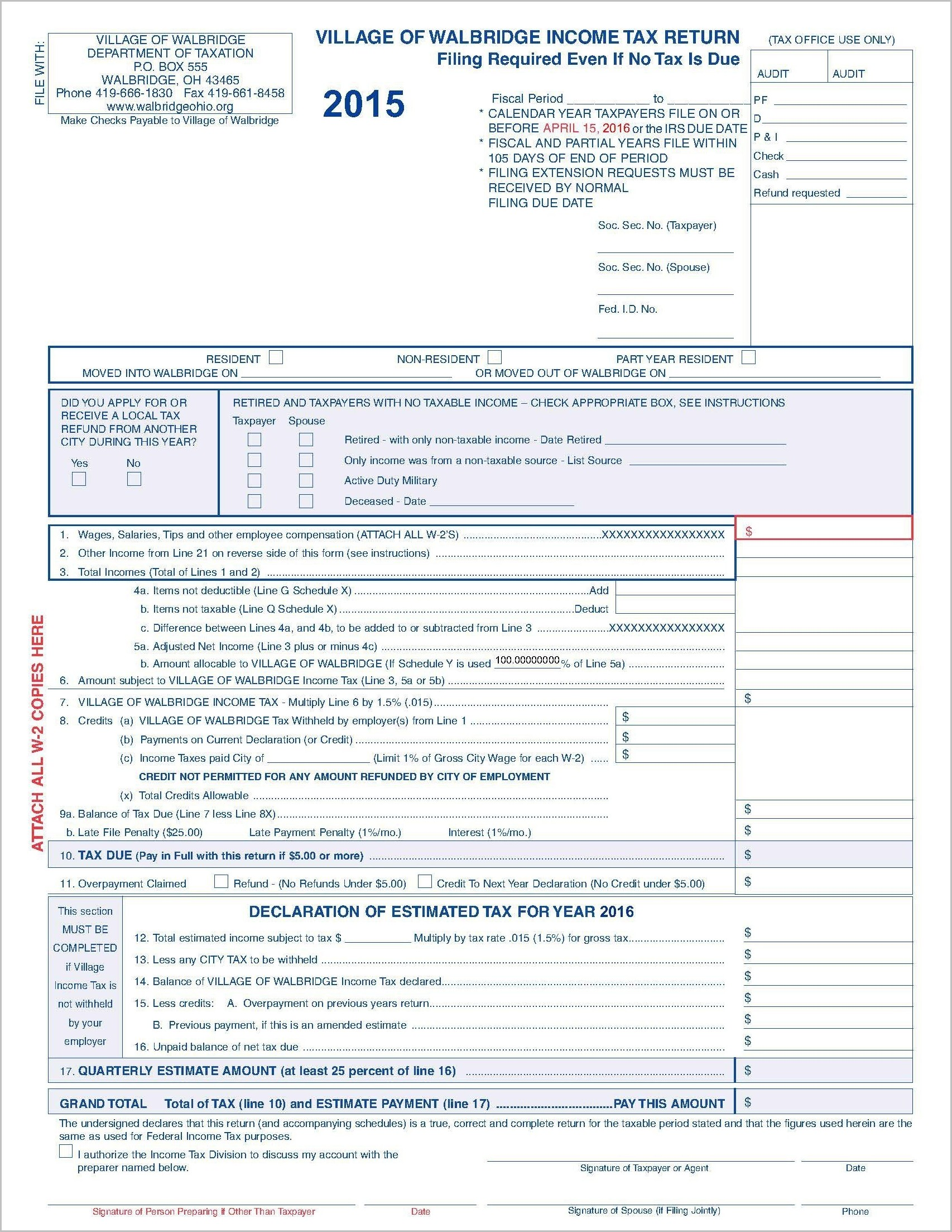 Ohio 1040ez Tax Form 2014