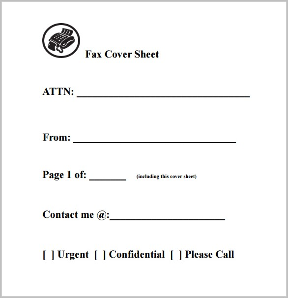 Printable Cover Letters Fax