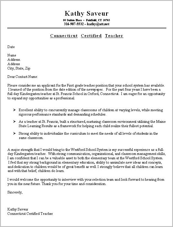 Resume And Cover Letter Layout