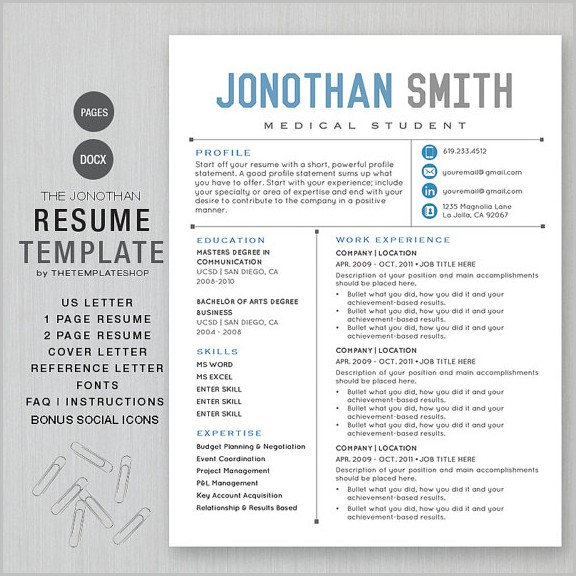 Apple Cv Template