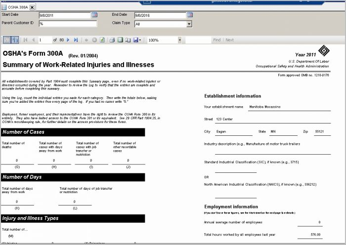 Completing The Osha 300a Form