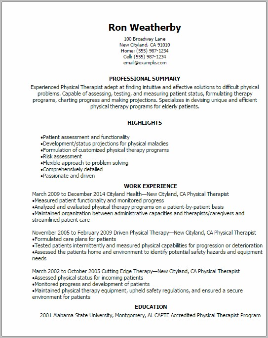 Examples Of Military To Civilian Resume