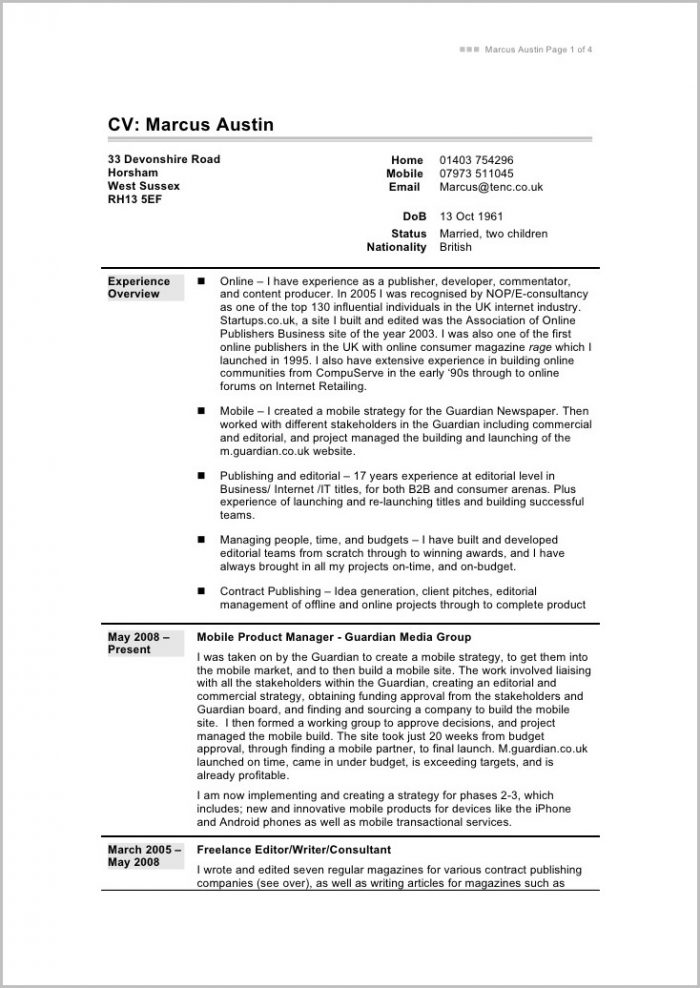 Fill In The Blank Resume Template