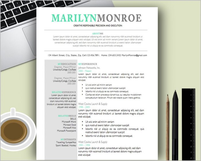 Free Creative Resume Templates For Mac