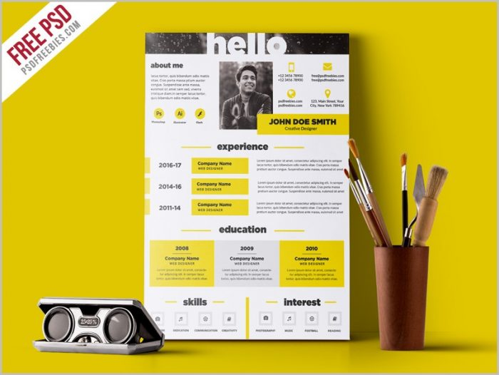 Free Creative Resume Templates In Word