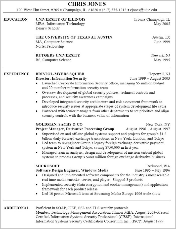 Free Job Resume Templates For Microsoft Word