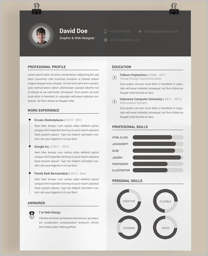 Free Printable Creative Resume Templates