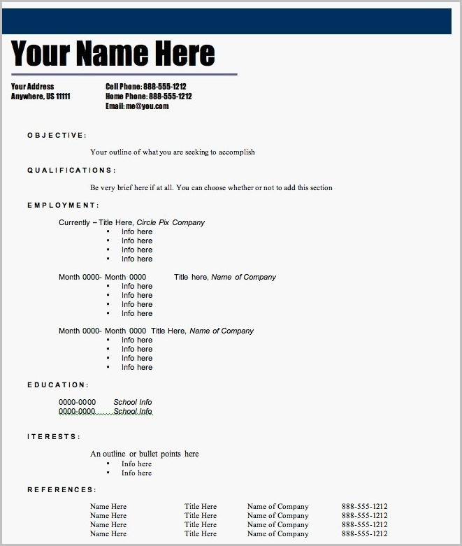 Free Resume Builder And Printable